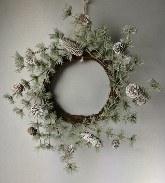 Pine Wreath Snowy Green 60cm