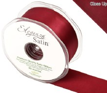 Double Faced Satin 38mm Claret