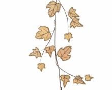 pes velvet leaf garland