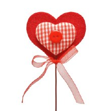 Pick Heart Button Red (7x50)