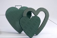 "Plastic Base Heart Closed 13"" (x2)"