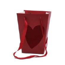 Bag Velvet Love Red (15x11x20cm)