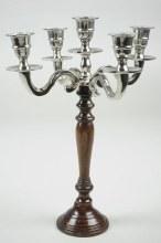 Candleholdr 5arm36cmSilver