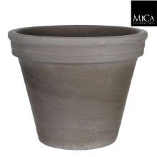 Pot Round Grey Basalt Stan (17x20cm)