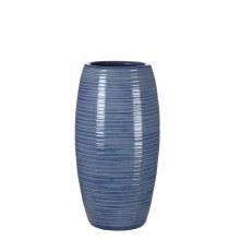VASE ROUND LOOMY H30D15 L.BLUE