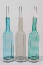 gl bottle tealightholder 3clas