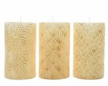 wax pillar with dessin 3ass