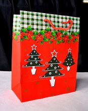 Christmas Bags 32cm x 25cm Red