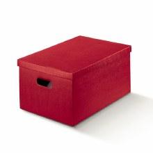 Box with Lid Silk Burgundy - Seta Bord(34x50x25cm)