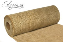 Rustic hessian cut edge (29cm x 9.1m/Natural)
