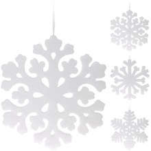 SNOWFLAKE HANGDECO 49CM 3ASS