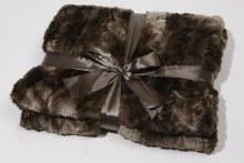 pes plaid faux fur rabbit