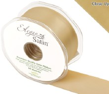 Double Faced Satin 38mm Gold