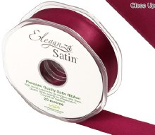 Double Faced Satin 25mm Burgundy