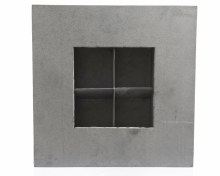 zinc wall cabinet for 4 plants