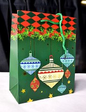 Christmas Bags Green x20 (32x25cm)