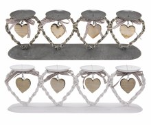 CANDLEHOLDER METAL HEART DESIG