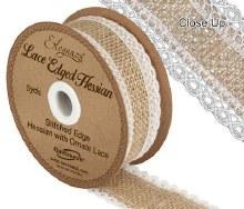 Eleganza lace edge hessia (36mm x 5yards)