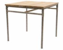 iron table w pinewood top