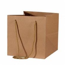 Hand Tied Bag Kraft 19 x 25cm