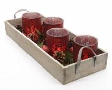 gl tlighth advent on wood tray
