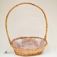 Dark Oval Basket 36x26x46cm