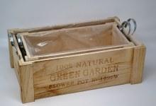Wooden crates 'Green garden' S/2