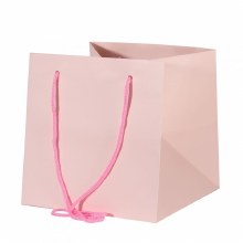 Hand Tied Bag Pink 25x25cm