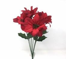 Bush Delux Satin Poinsettia Red x7