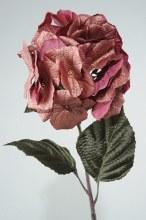 Silk Hydrangea On Stem Burgund