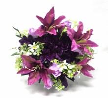 Bush Dahlia/Tiger Lily/Rose/Pom Purple x22