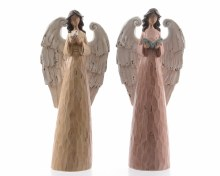 poly angel standing wood