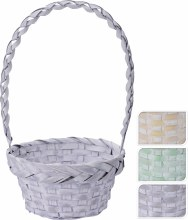 Basket with handle round