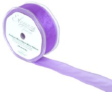 Finesse wired ribbon (32mm x 20m/Purple)