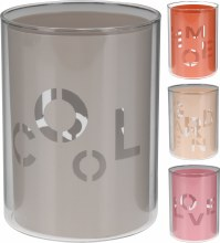 Candle tealightholder metal wi (4 assorted)