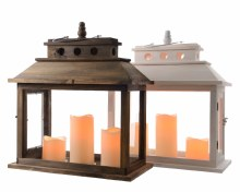 LED wooden lantern (2 assorted)
