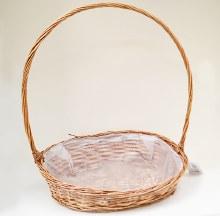 Dark oval basket (45x37x52cm/Brown)