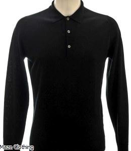 John Smedley Belper Polo Shirt Black