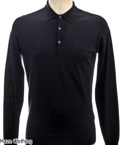 John Smedley Belper Polo Shirt Navy