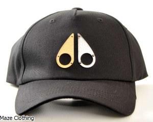 Moose Knuckles Gold Logo Black