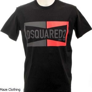 DSquared Champion T Shirt Black