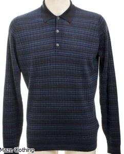 John Smedley Copse Polo Shirt Navy