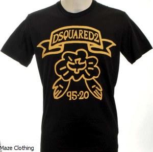 DSquared Dove T Shirt Black
