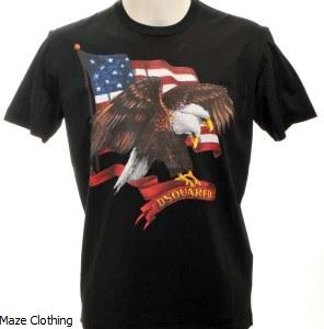 DSquared Eagle T Shirt Black