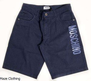 Moschino Kids Gaberdene Short Navy