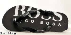 Hugo Boss Kids Flip Flop Black