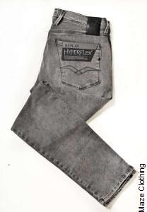 Replay Hyperflex Anbass 07B Grey Jean