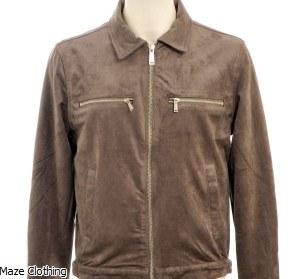 Azat Mard Suede Jacket Grey