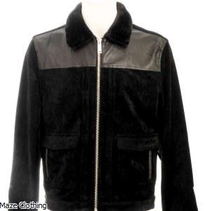 Azat Mard Fur Collar Jacket Black