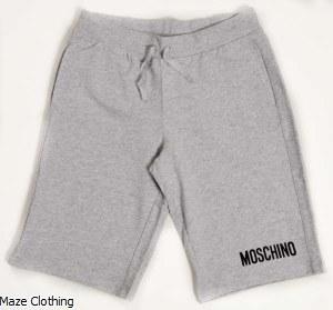 Moschino Kids Jersey Short Grey